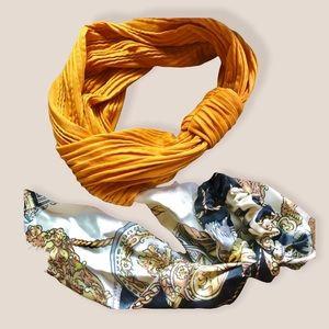 Headbands Yellow mustard and hair Scrunchie scarf